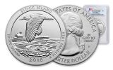 2018-P Block Island National Wildlife Refuge 5-oz Silver Quarter America the Beautiful PCGS MS69 DMPL First Strike