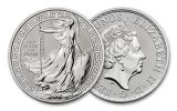 2018 Great Britain 1-oz Silver Britannia Oriental Border Brilliant Uncirculated