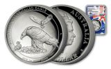 2018 Australia 1-oz Silver Wedge-Tailed Eagle HR NGC Gem Proof First Releases- Mercanti Signed