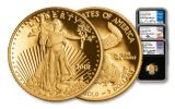 2018-W 5 Dollar Gold Eagle NGC PF70UCAM First Day Of Issue Washington DC Jones Mercanti Moy Signed 3pc