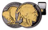 1930s 5 Cent Buffalo Black Ruth Gold Plating