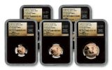 2018 South Africa Gold Krugerrand NGC PF70UCAM FDI Tumi Signed 5pc Set - Black