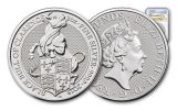 2018 Great Britain 2-oz Silver Queen's Beasts Black Bull Of Clarence NGC MS69 First Releases