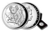 2018 Australia $1 1-oz Silver Koala High Relief Proof