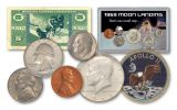 1969 Moon Landing Tribute 5-Piece Coin Set with Patch and MPC Currency Note