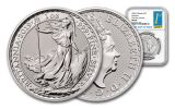 2019 Great Britain 2-Pound 1-oz Silver Britannia NGC MS69 First Day of Issue