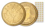 2019 Canada $5 1/10-oz Gold Maple Leaf BU 40-Piece Sheet
