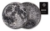 Shire Mint 1/4-oz Silver Full Moon Antiqued Medal BU