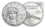 2019 $100 1-oz Platinum American Eagle PCGS MS70 First Strike - Flag Label