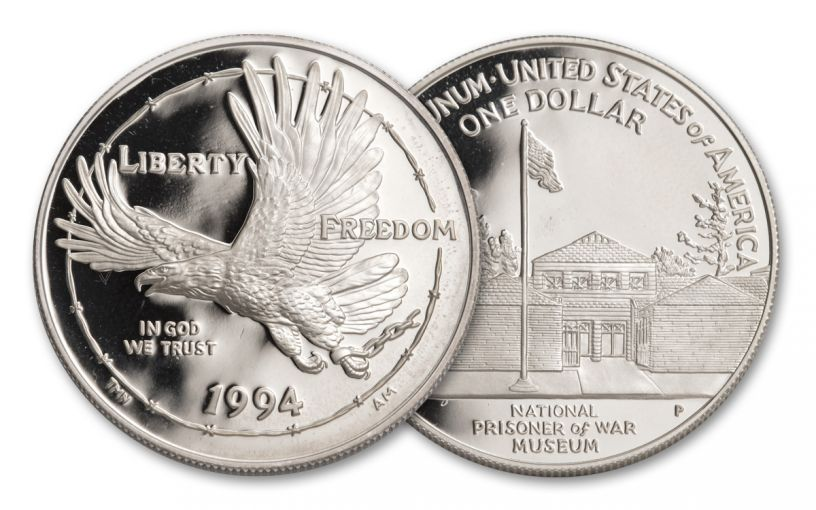 1994-P $1 Silver Prisoners of War Proof