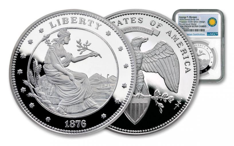 100 Dollar 1-oz Silver Union NGC Proof