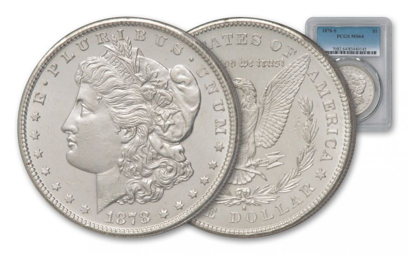 1878-S Morgan Silver Dollar NGC/PCGS MS64