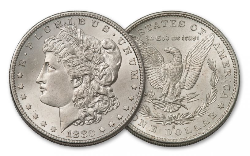 1880-S Morgan Silver Dollar BU