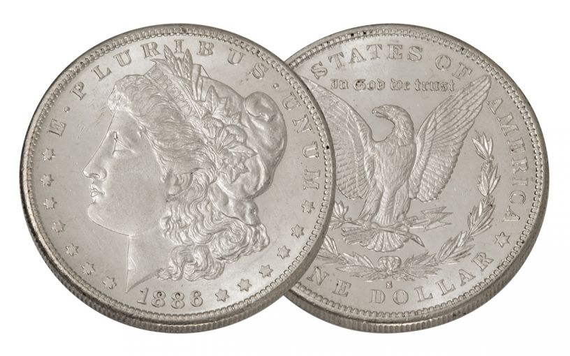 1886-S Morgan Silver Dollar BU