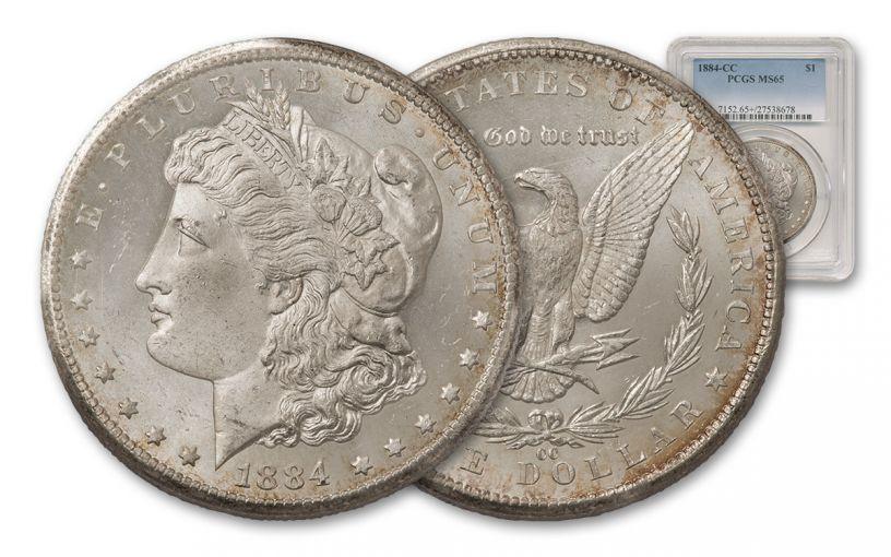 1884-CC Morgan Silver Dollar PCGS MS65