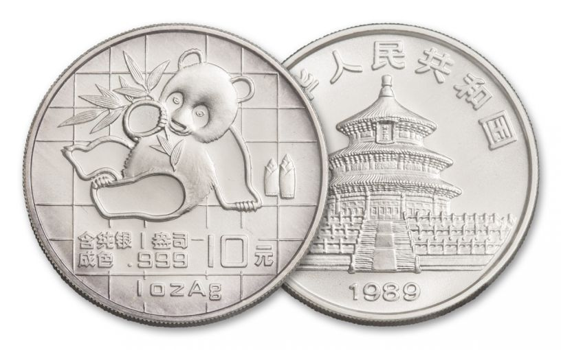 1989 China 1-oz Silver Panda BU