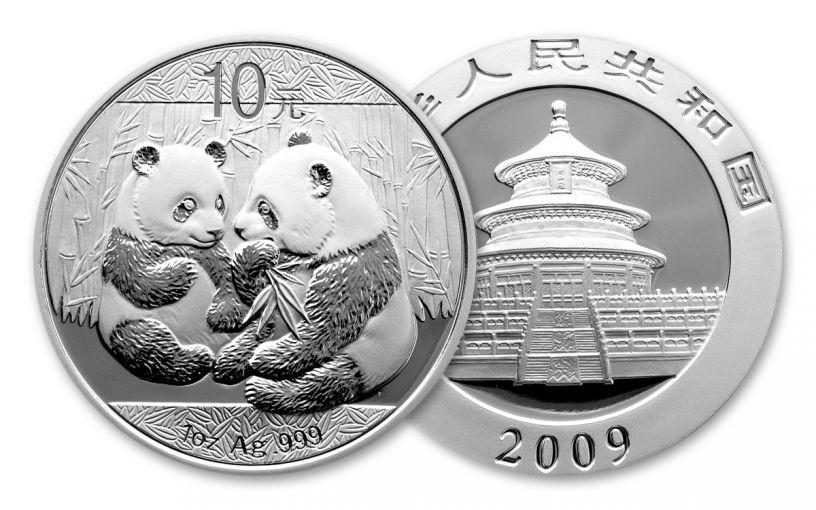 2009 China 1-oz Silver Panda BU