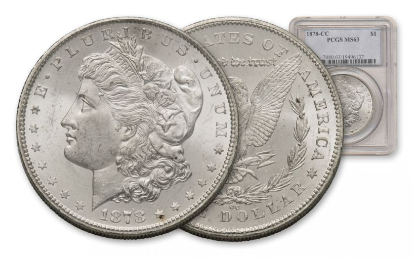 1878-CC Morgan Silver Dollar PCGS MS63