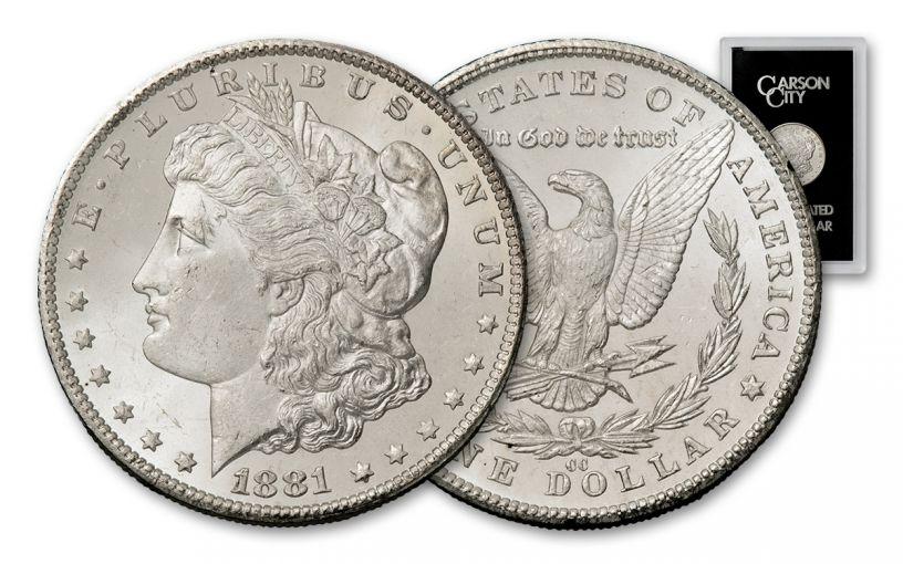 1881-CC Morgan Silver Dollar NGC MS63 GSA Holder