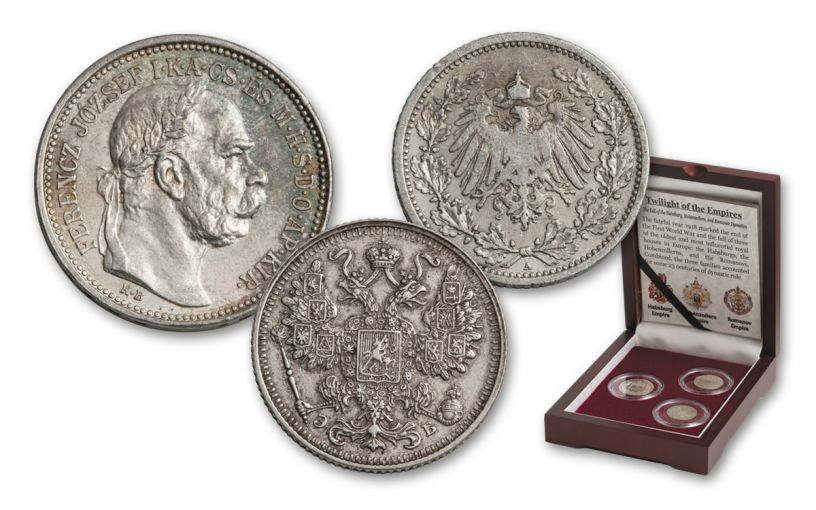 1867–1919 Silver Twilight of Empires 3-pc Set VG-VF