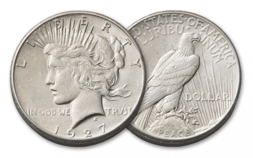 1927-P 1 Dollar Peace XF