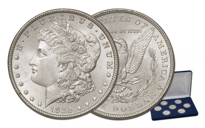 Morgan Silver Dollar BU Treasury Hoard Collection 7 Pc Set