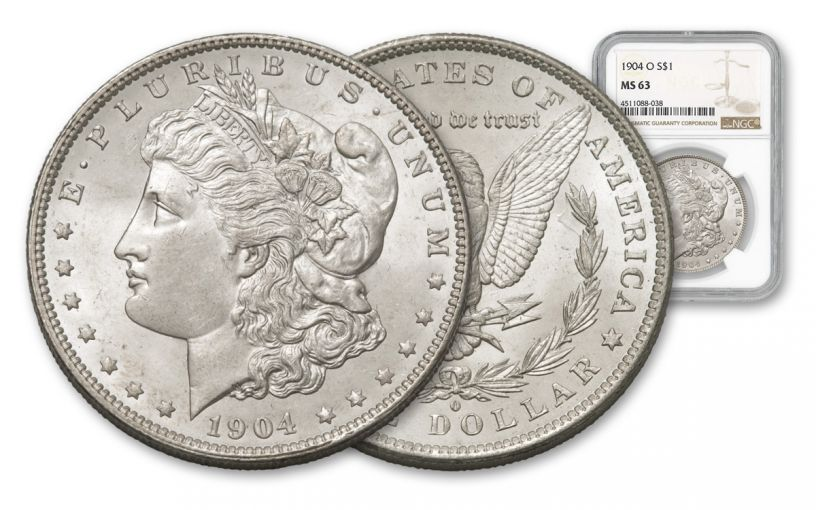 1904-O Morgan Silver Dollar NGC/PCGS MS63