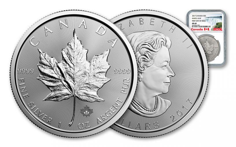 2017 Canada 5 Dollar 1-oz Silver Maple Leaf NGC MS69 FDI