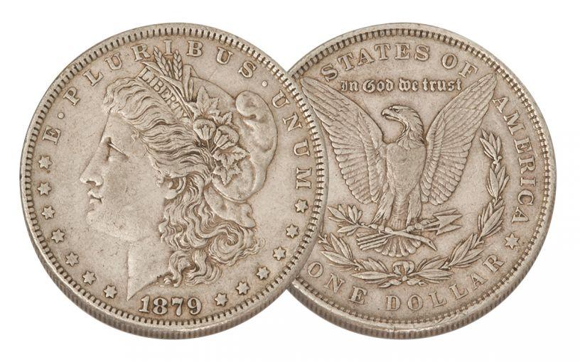 1879-P Morgan Silver Dollar XF