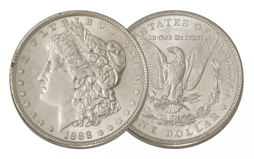 1888-P Morgan Silver Dollar AU