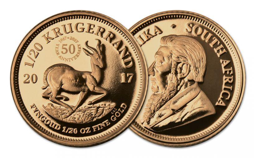 2017 South Africa 1/20-oz Gold Krugerrand Proof
