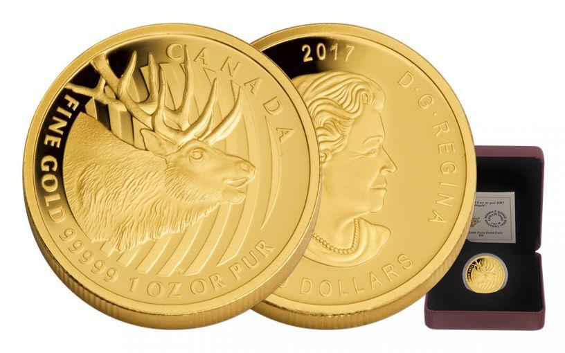 2017 Canada $200 1-oz Gold Elk Proof