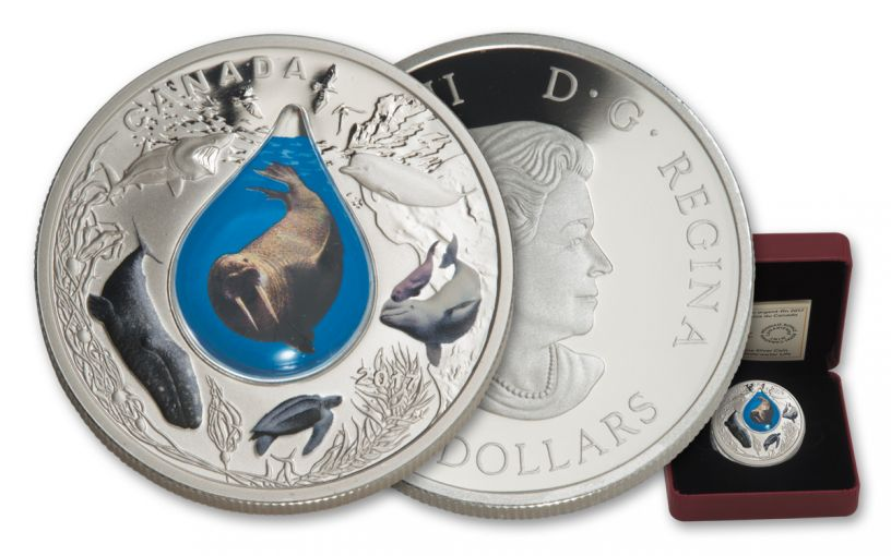 2017 Canada 1-Ounce $20 Silver Underwater Life Colorized 3D Water Droplet Proof