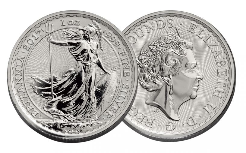 2017 Great Britain 2 Pound 1-oz Silver Britannia Uncirculated 20th Anniversary Uncirculated
