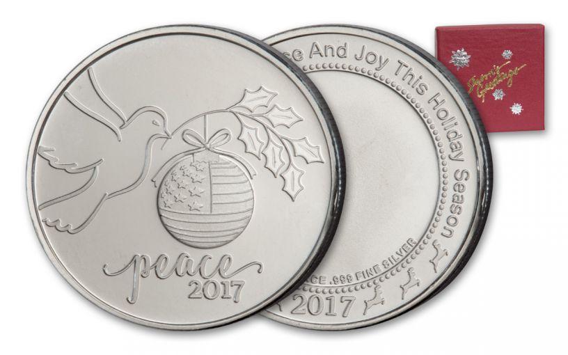2017 1-oz Silver Peace Dove Round - Red Box