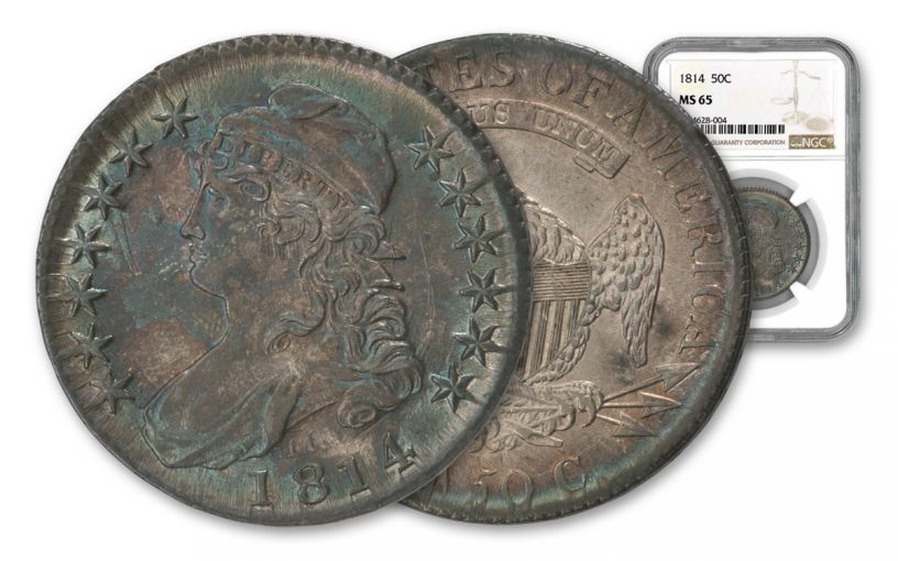 1814 Bust Half Dollar NGC MS65