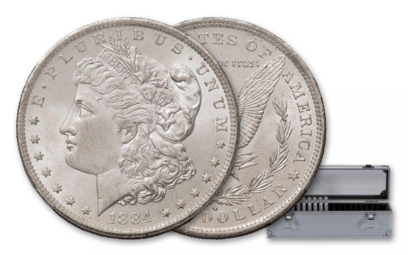 1878-1887 Morgan Silver Dollar 10 Piece Set NGC MS65 Pittman Act