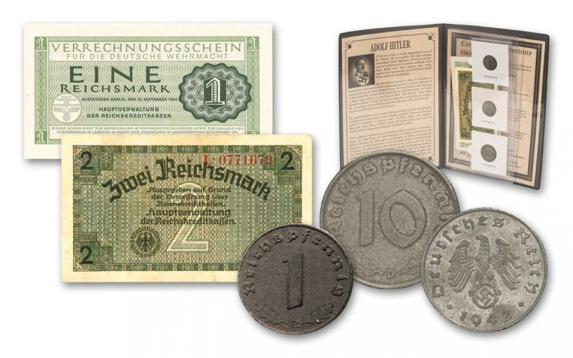 World War II Nazi Germany 5-Piece Currency Collection w/ Folder