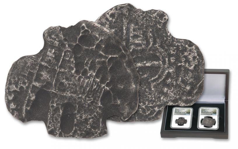 1556-1743 Spain Princess Louisa Shipwreck Silver Reales 2-piece Set NGC Genuine -  Salvor's Reserve Hoard