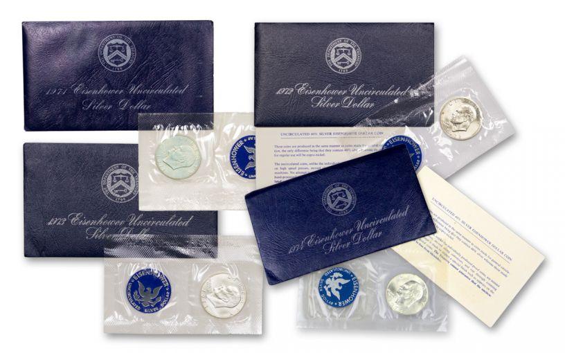 Silver Eisenhower Dollar Uncirculated BU Complete Set