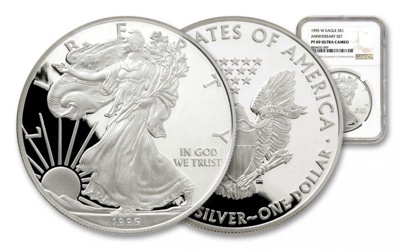 1995-W $1 1-oz Silver American Eagle NGC PF69UC