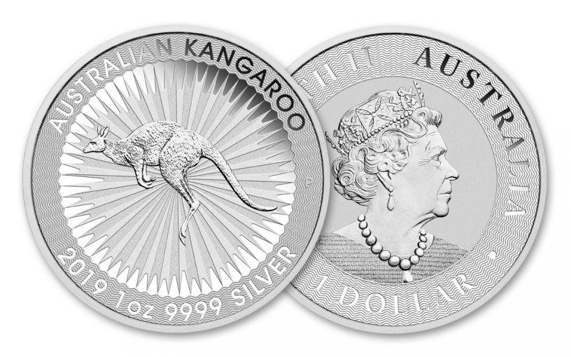 2019 Australia $1 1-oz Silver Kangaroo BU