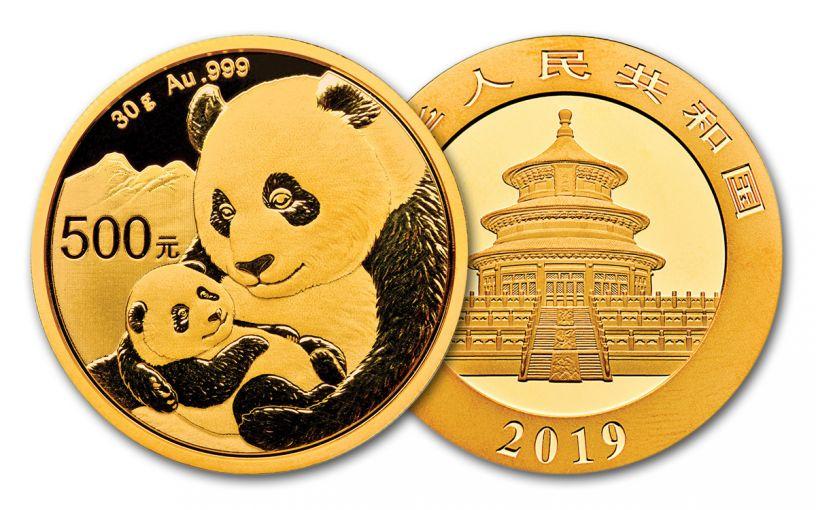 2019 China 30-Gram Gold Panda BU