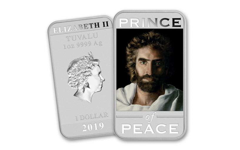 2019 Tuvalu $1 1-oz Silver Akiane's Prince of Peace Uncirculated