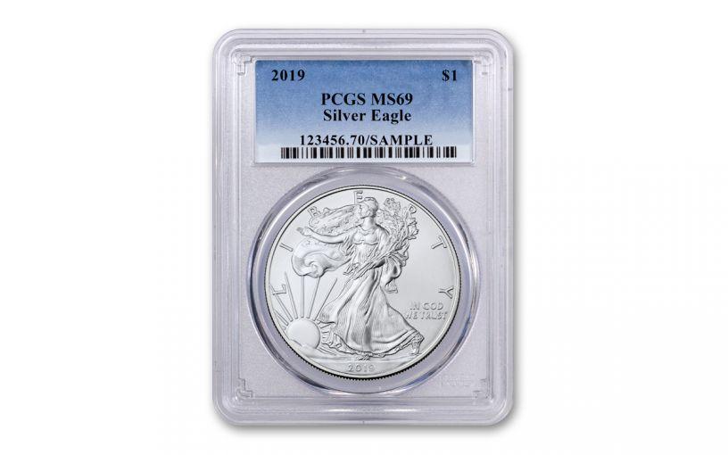 2019 1 Dollar 1-oz Silver Eagle PCGS MS69