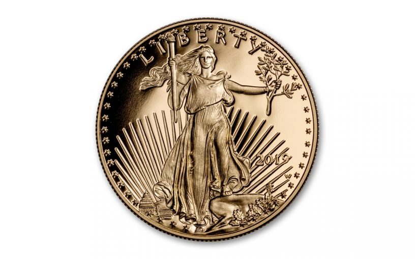 2019-W $5 1/10-oz Gold American Eagle Proof
