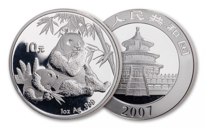 2007 China 1-oz Silver Panda BU