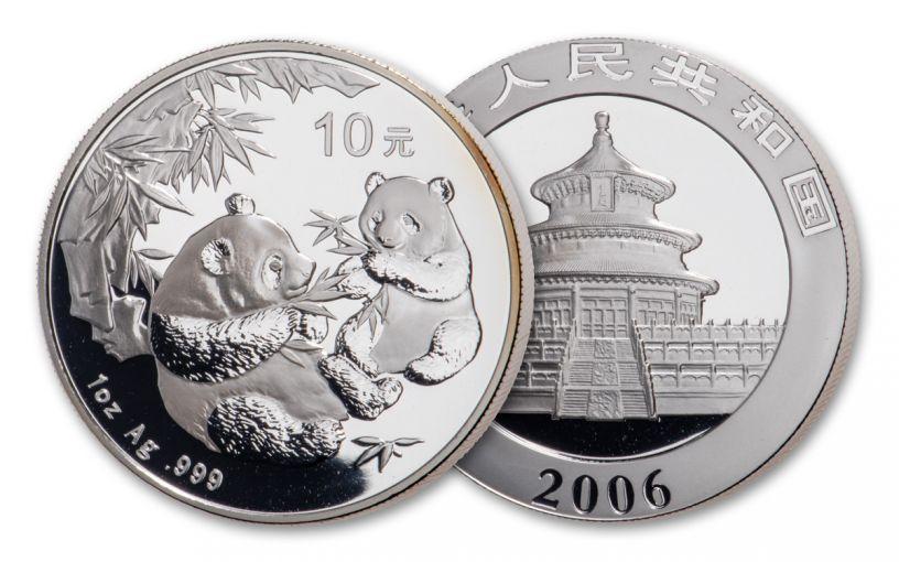 2006 China 1-oz Silver Panda BU