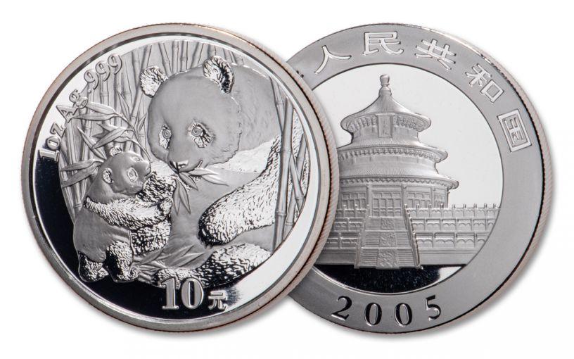 2005 China 1-oz Silver Panda BU