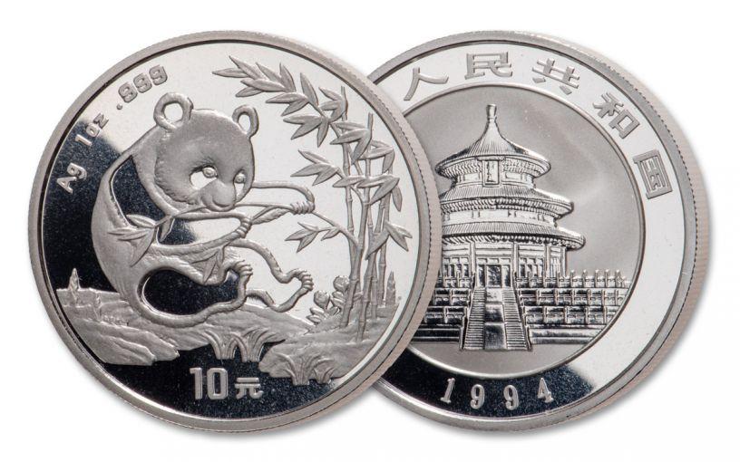 1994 China 1-oz Silver Panda BU